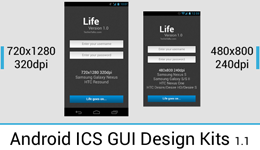 [Android] ICS GUI Design Kits in Adobe Photoshop Format