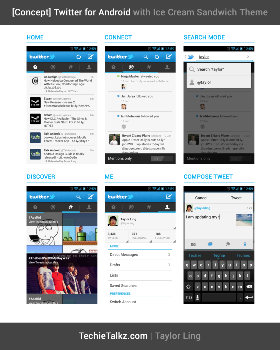 Twitter for Android with ICS Theme